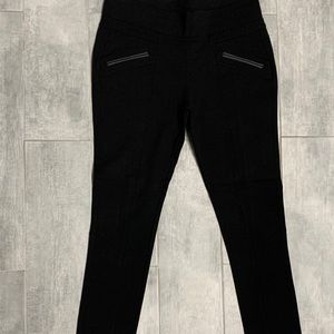 NWT Jet Black Felicita Ponte Pants Large Guess